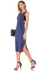Bcbgeneration Cocktail Fitted Midi Dress Blue