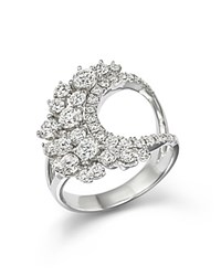 Bloomingdale's Diamond Cluster Statement Ring In 14K White Gold 1.85 Ct. T.W.