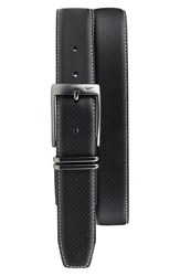 Men's Nike Perforated Leather Belt Black
