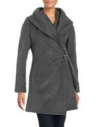 French Connection Wool Blend Wrap Coat
