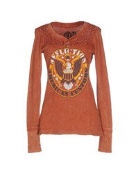 Affliction Topwear T Shirts Women Brown