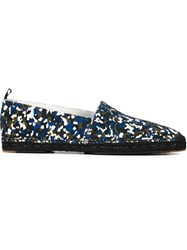 Fendi Granite Print Espadrilles Multicolour