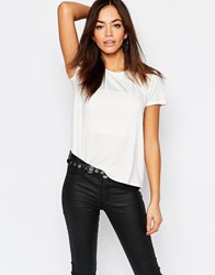Daisy Street T Shirt With Mesh Panels White