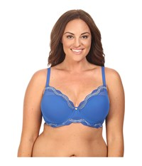 Natori Pure Allure Full Figure Contour Underwire Bra 736099 Nautical Blue Silver Dusk Women's Bra