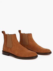 A.P.C. Whisky Ethan Split Suede Chelsea Boots Brown