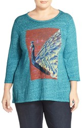 Plus Size Women's Lucky Brand Peacock Matchbox Graphic Tee