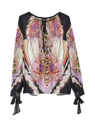 Just Cavalli Bonseki Print Tunic Top Pink