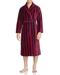 Derek Rose Aston 32 Velour Robe Navy Red