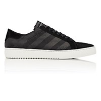 Off White C O Virgil Abloh Men's Diagonal Striped Low Top Sneakers Black Blue Black Blue