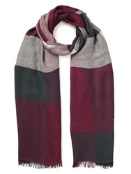 Jacques Vert Multi Check Scarf Red
