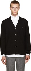 Acne Studios Black Dasher Face Cardigan
