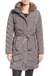 Cole Haan Women's Water Repellent Quilted Walking Coat Carbon