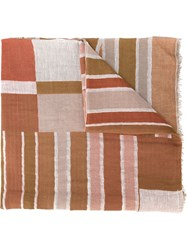 Humanoid Colour Block Scarf Nude And Neutrals