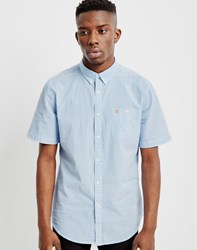 Farah Sloane Short Sleeve Button Down Shirt Blue