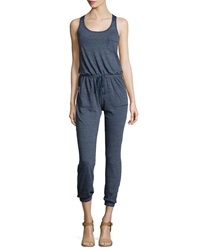 Candc California C And C California Triblend Racerback Jumpsuit Navy