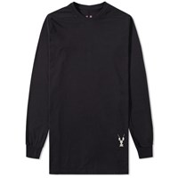 Rick Owens Drkshdw Long Sleeve Embroidered Level Tee Black