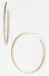 Nadri Medium Inside Out Hoop Earrings Nordstrom Exclusive Gold Clear