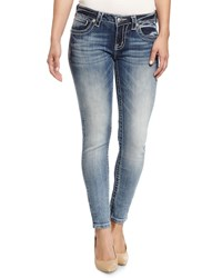 Miss Me Faded Skinny Jeans Medium Dark Wash