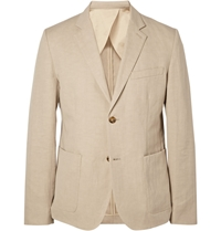 Steven Alan Oliver Cotton And Linen Blend Blazer Neutrals