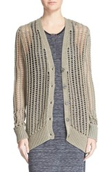 Women's Atm Anthony Thomas Melillo Mercerized Mako Cotton Open Stitch Cardigan Sweater