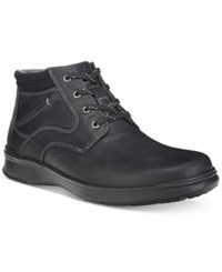 Clarks Men's Cotrell Rise Plain Toe Casual Chukka Boots Men's Shoes Black Oily Leather