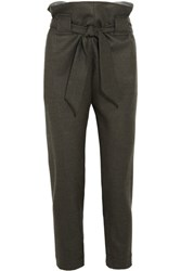 Vivienne Westwood Anglomania Kung Fu Tapered Wool Pants Green