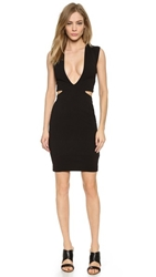 Solace London Santo Mini Dress Black