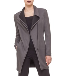 Akris Punto Long Jersey Moto Jacket