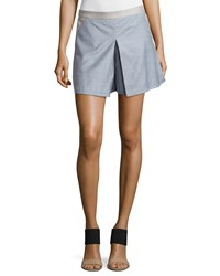 Clube Bossa Deep Fold Mini Shorts Flannel Ice