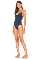 L Space Wild Side One Piece Navy