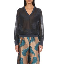 Dries Van Noten Jemen Intarsia Knit Jumper Black