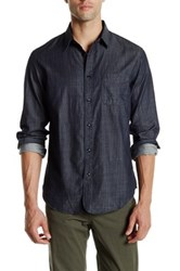 Rag And Bone Trim Fit Three Quarter Placket Shirt Blue