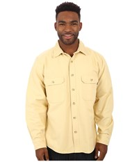 Woolrich Expedition Chamois Shirt Chamois Men's Long Sleeve Button Up Beige
