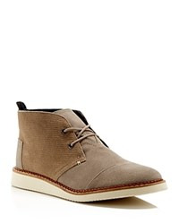Toms Mateo Embossed Suede Chukka Boots Taupe