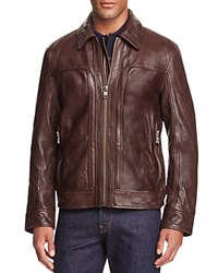 Andrew Marc New York Outpost Leather Jacket Espresso