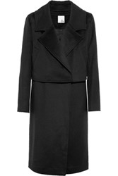 Iris And Ink Julieta Wool Cashmere Blend Coat Black