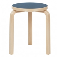 Aalto Stool 60 Blue Linoleum Stools Furniture Finnish Design Shop