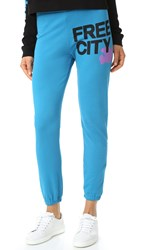 Freecity Featherweight Sweatpants Blue Machine
