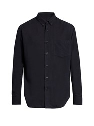 Ami Alexandre Mattiussi Summer Fit Long Sleeved Shirt Navy