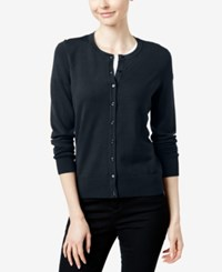 Charter Club Crew Neck Cardigan Only At Macy's Deepest Navy