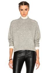 Isabel Marant Fleming Baby Camel Knit Sweater In Gray