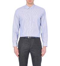Ted Baker Striped Cotton Shirt Blue