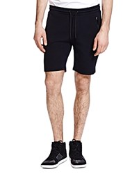 The Kooples Honeycomb Fleece Shorts Black