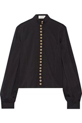 Christophe Lemaire Stretch Silk And Wool Blend Shirt Black