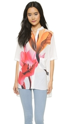 Clover Canyon Silent Flower Top White