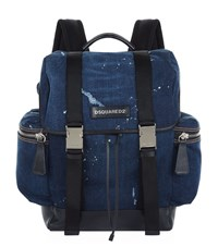 Dsquared2 Destroyed Denim Backpack Unisex