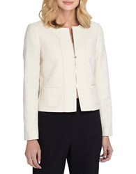 Tahari By Arthur S. Levine Long Sleeved Jacket Oatmeal Brown