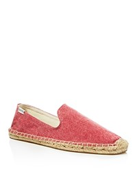 Soludos Washed Canvas Smoking Slipper Espadrilles Washed Canvasred