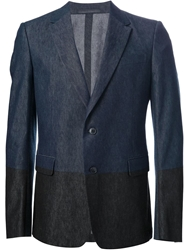 Valentino Two Tone Denim Blazer Blue