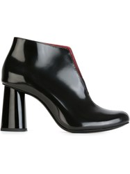 Carven Chunky Heel Ankle Boots Black